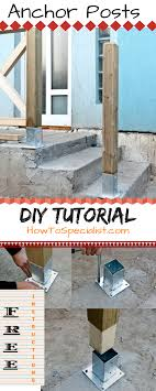 How To Anchor Post To Concrete Howtospecialist How To Build Step By Step Diy Plans