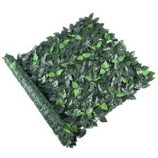 China Covering Ertical Wall Garden Green Fake Artificial Plant Fence China Garden Leaf Fence Artificial Ivy Fence