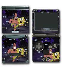 Spongebob Squarepants Patrick Friends Octopus Video Game Vinyl Decal Skin Sticker Cover For Nintendo Gba Sp Gameboy Advance System Wantitall