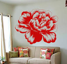 Vinyl Wall Decal Bud Rose Flower Garden Nature Girl S Room Decor Stickers 1206ig Ebay