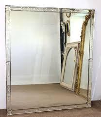 large near square venetian mirror in