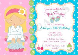 Girls Spa Birthday Party Invitations Cumpleanos De Spa