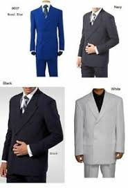 mens double ted suit w pant back