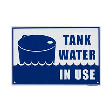 Sandleford 300 X 200mm Tank Water In Use Plastic Sign Bunnings Warehouse