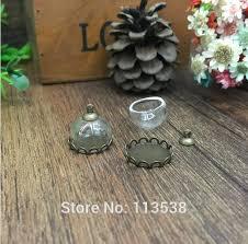 glass dome setting base set glass vial