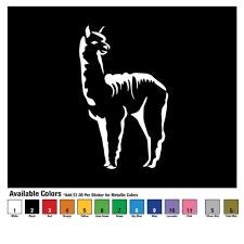 Alpaca Sihouette Llama Decor Decal Sticker Car Camelid Love Free Us Shipping Home Garden Decals Stickers Vinyl Art