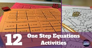 12 one step equation activities that