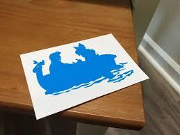 Custom Vinyl Disney S The Little Mermaid Boat Decal Etsy