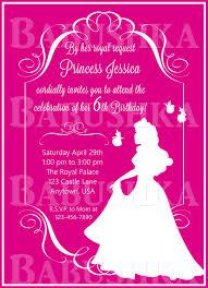 Sleeping Beauty Birthday Party Invitation Princess Aurora Party