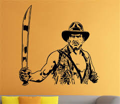 Amazon Com Umondon Wall Decal Sticker Art Mural Home Decor Indiana Jones Movie Film Sticker Kids Room Home Home Kitchen