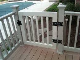 Gate Kits For Vinyl Deck And Porch Railing Deck Gate Decks And Porches Porch Gate