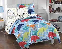 twin comforter set prehistoric dinosaur