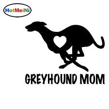 Hotmeini Car Styling Greyhound Mom Love Heart Dog Puppy Vinyl Decal Motorcycle Car Sticker Black Sliver 12cm 9cm Car Stickers Aliexpress