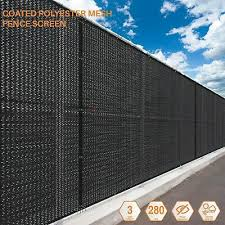 Customize 2 Ft Black Fence Privacy Commercial Screen Coated Polyester 280 Gsm Ebay