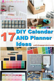 17 useful diy calendars and planners to