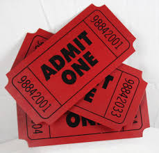 Red Admit One Ticket Movie Theater 3d Wall Decor Metal Sign 3 Tickets Intercontinentalartinc Wall Signs Man Cave Room 3d Wall Decor