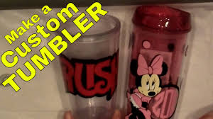 How To Make A Custom Cup Or Tumbler With Vinyl Decals Scrapping Silhouette Diy Step By Step Youtube