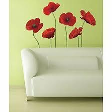 Poppies Art Flower Sticker Giant Wall Decal Decorati