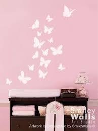 He Encontrado Este Interesante Anuncio De Etsy En Https Www Etsy Com Es Listing 49764774 Wall Decal But Butterfly Nursery Butterfly Wall Decals Nursery Vinyl