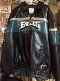 philadelphia eagles leather jacket mens