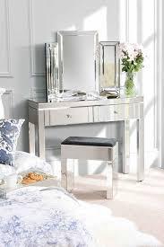 madison 4 leg mirrored dressing table