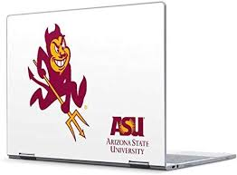 Amazon Com Skinit Decal Laptop Skin Compatible With Pixelbook Officially Licensed College Arizona State Sparky Design Electronics