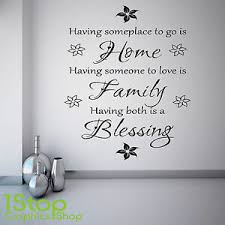 Home Family Blessing Wall Sticker Bedroom Lounge Wall Art Decal X398 Ebay