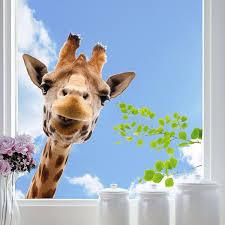 Giraffe Window Home D Eacute Cor Line Wall Decals