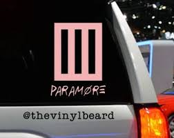 Paramore Decal Etsy