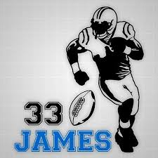 Football Player Wall Decal Vinyl Wall Football Silhouette Varsity Name Stickers Ebay