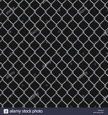Seamless Realistic Chain Link Fence Background On Black Stock Vector Image Art Alamy