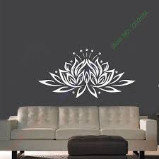 Lotus Flower Yoga Meditation Wall Art Sticker Decal Home Diy Decoration Decor Wall Mural Removable Bedroom Decal Sticker Wall Art Stickers Wall Muraldecal Sticker Aliexpress