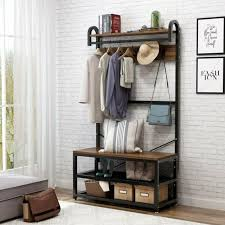 coat racks storage entryway seating