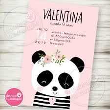 Kit Imprimible Panda Osita Invitaciones Cumple Babyshower 2