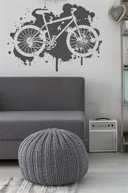 Mountain Bike Wall Decal Grunge Paint Splatter 32 Colors Walltat Com