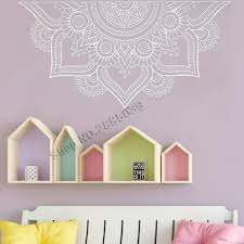 New Design Half Mandala Wall Stickers For Bedroom Home Decor Headboard Vinyl Decals Flower Mandala Wall Decal Yoga Wall Lc1196 Y200103 Large Wall Transfers Letter Wall Decals From Qiansuning666 26 34 Dhgate Com