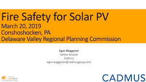 Fire Safety for Solar PV - MCG+Cadmus