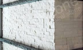 white quartz stacked stone veneer for