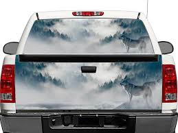 Product Wolf In Mountains Rear Window Or Tailgate Decal Sticker Pick Up Truck Suv Car