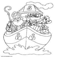 Kleurplaat De Boot Van Sinterklaas Kleurplaatarchief Nl
