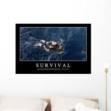Survival Inspirational Quote And Wall Decal Design 2 Wallmonkeys Com