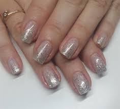 akzentz gel overlay with silver glitter