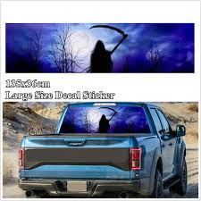 135 36cm Flaming Skull Rear Window Graphic Decal Sticker For Truck Pickup Decor Archives Statelegals Staradvertiser Com