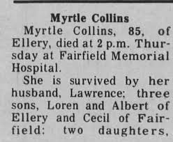 Obituary for Myrtle Collins (Aged 85) - Newspapers.com