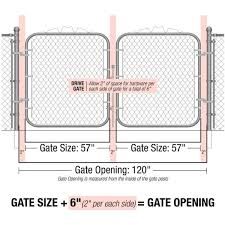 Yardgard 10 Ft W X 4 Ft H Metal Steel Drive Through Chain Link Fence Gate 2 Panels 328402a The Home Depot