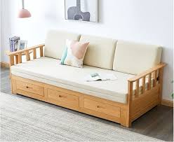 china solid wood sofa bed dual use