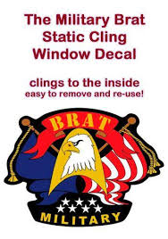 Static Cling Window Decal Military Brats Registry