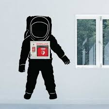 Space Astronaut Wall Decal For Aed Wall Cabinet
