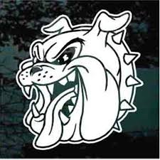 Growling Bulldog Head Car Decals Window Stickers Decal Junky