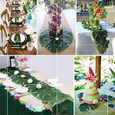 tropical palm leaves party decorations